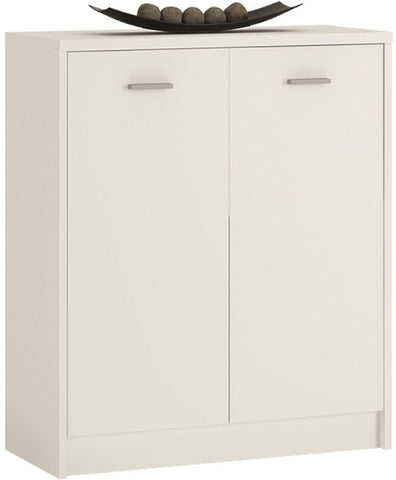 4 You Pearl White Cupboard - 2 Door