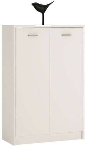 4 You Pearl White Cupboard - Tall 2 Door