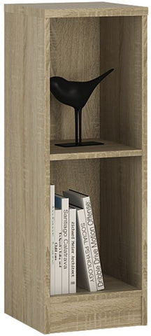 4 You Sonama Oak Bookcase - Low Narrow