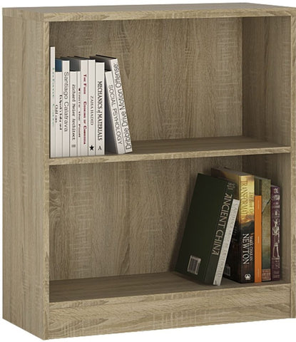 4 You Sonama Oak Bookcase - Low Wide