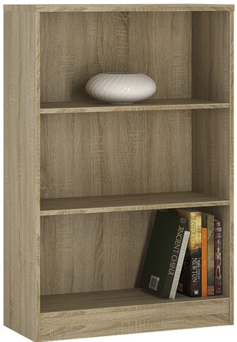 4 You Sonama Oak Bookcase - Medium Wide