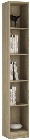 4 You Sonama Oak Bookcase - Tall Narrow