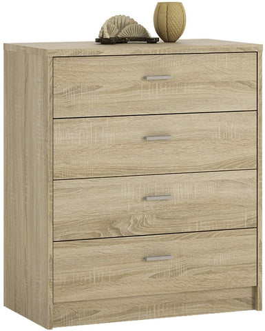 4 You Sonama Oak Chest of Drawers - 4 Drawer