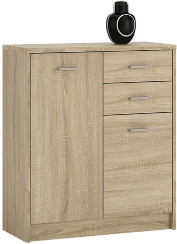 4 You Sonama Oak Cupboard - 2 Door 2 Drawer