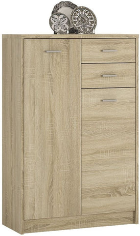 4 You Sonama Oak Cupboard - Tall 2 Door 2 Drawer