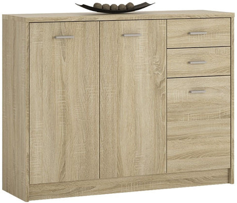 4 You Sonama Oak Cupboard - Wide 3 Door 2 Drawer