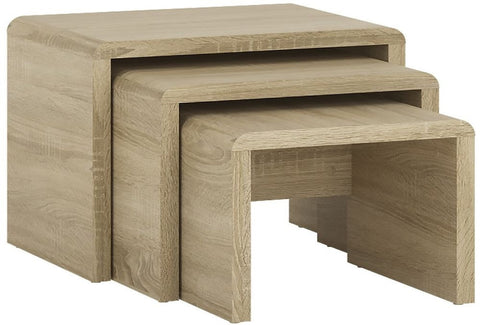 4 You Sonama Oak Nest of 3 Tables - Small