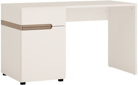 Chelsea White High Gloss Dressing Table with Truffle Oak Trim
