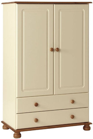 Copenhagen Cream Wardrobe - 2 Door 2 Drawer Combi