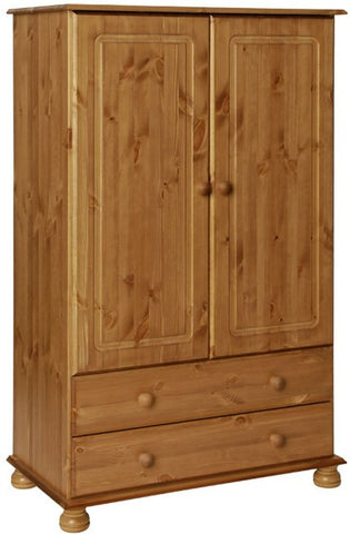 Copenhagen Pine Wardrobe - 2 Door 2 Drawer Combi