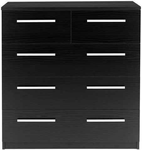 Designa Black Ash Chest of Drawers - 2+3 Drawer