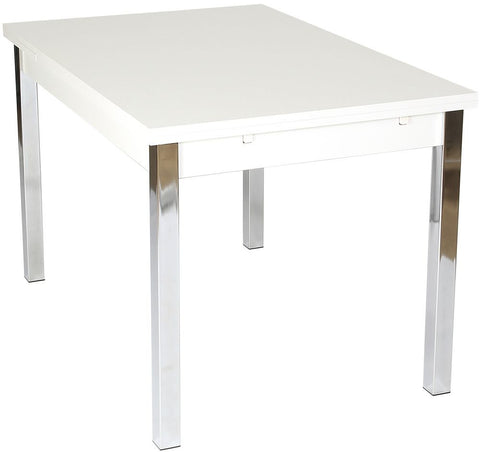 Designa White Dining Table - Extending