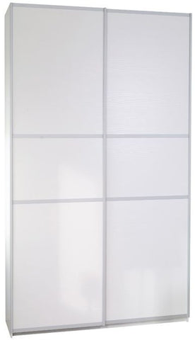 Designa White Melamine Door Sliding Wardrobe