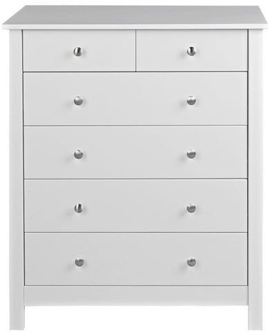 Florence White Chest of Drawers - 4+2 Drawer