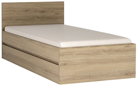 Hobby Oak Melamine Bed Frame - Single