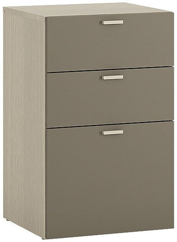 Holiday Light Oak Plover Cream Melamine Under Desk Chest