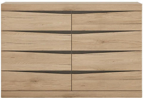 Kensington Oak Chest of Drawer - Wide 4+4 Drawer