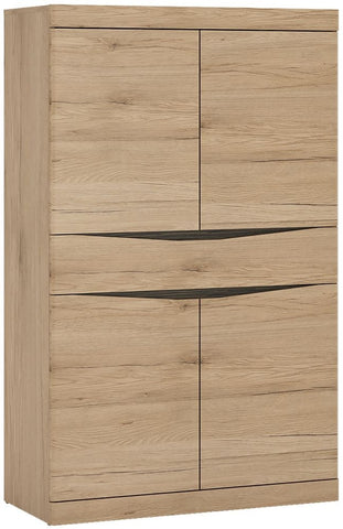 Kensington Oak Cupboard - 4 Door 1 Drawer