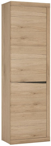 Kensington Oak Cupboard - Tall Narrow 2 Door