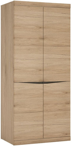 Kensington Oak Cupboard - Tall Wide 2 Door