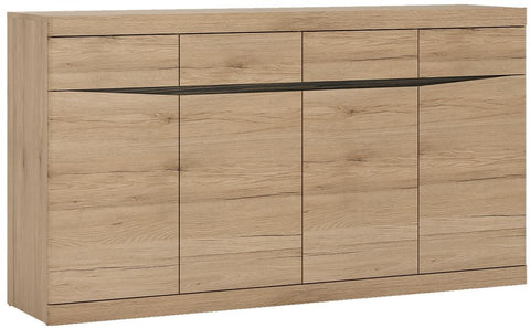 Kensington Oak Sideboard - Wide 4 Door 4 Drawer