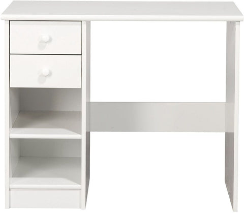 Kids World White Desk - 2 Drawer