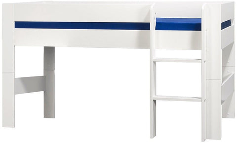 Kids World White Mid Sleeper Bed