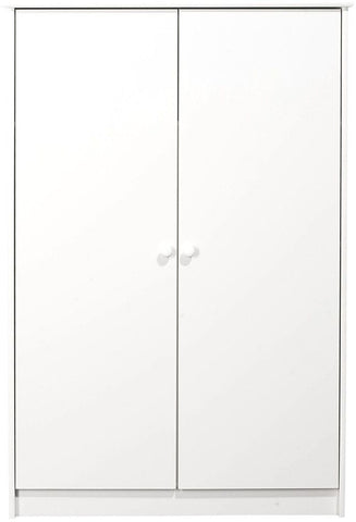 Kids World White Wardrobe - 2 Door Fitted
