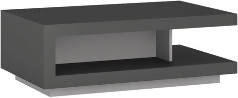 Lyon Platinum and Grey Gloss Designer Coffee Table