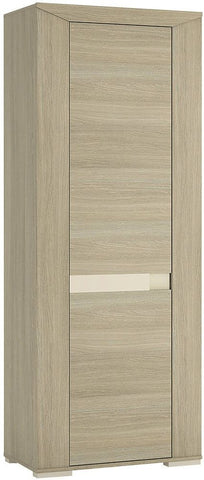Madras Champagne Melamine Cupboard - Tall 1 Door