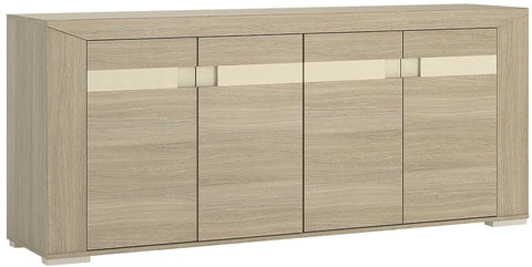 Madras Champagne Melamine Sideboard - Extra Wide 4 Door