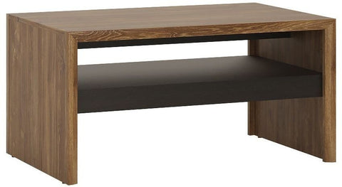 Messina Dark Oak and Chocolate Coffee Table - Shelf