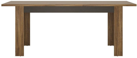 Messina Dark Oak and Chocolate Dining Table - Large Extending