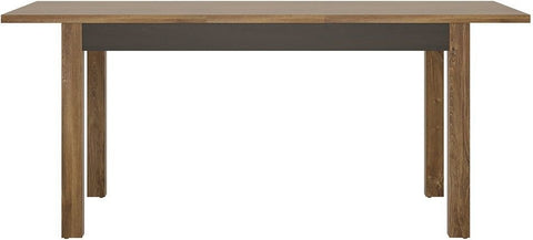 Messina Dark Oak and Chocolate Dining Table - Small Extending