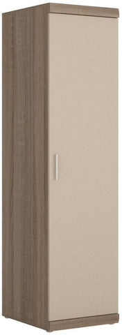 Park Lane Oak and Champagne Tall Cabinet - Narrow 1 Door