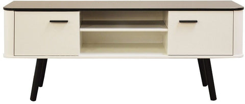 Scandinavian Style White and Black TV Cabinet - Wide