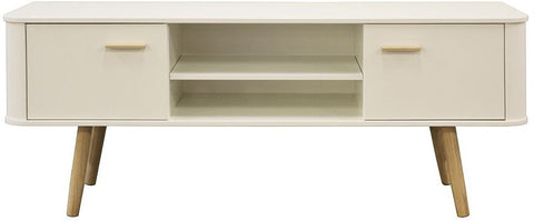 Scandinavian Style White and Oak TV Cabinet - Wide