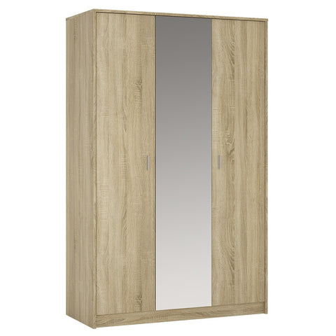 4 You 3 door wardrobe (with mirror) in Sonama Oak