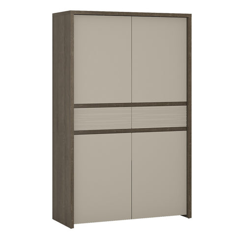 Aspen 4 Door 2 Drawer Cupboard (Inc LED lighting) in Riviera Oak