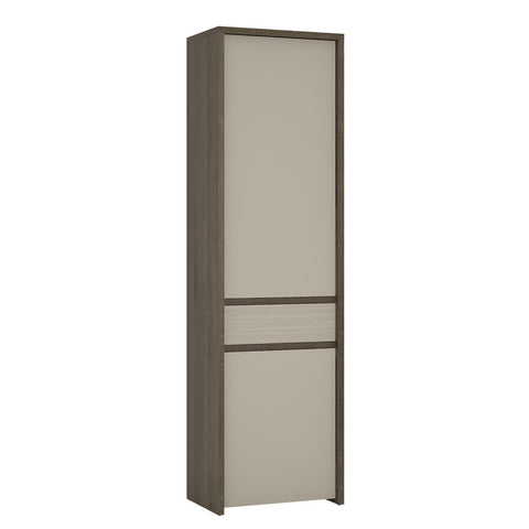 Aspen 2 Door 1 Drawer Tall Storage Cupboard (Inc LED lighting) in Riviera Oak