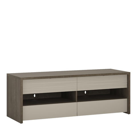 Aspen 4 Drawer TV Stand (Inc LED lighting) in Riviera Oak