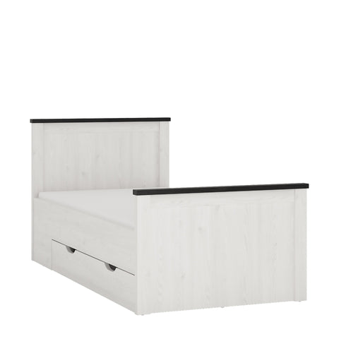 Provence Single bed with storage drawers
