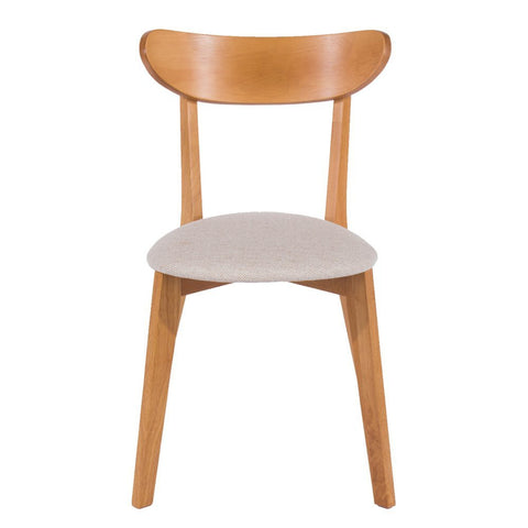 Core Products Chair/Curved Back with Cream Fabric Seat Pad
