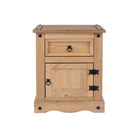 Core Products 1 Door 1 Drawer Bedside Cabinet