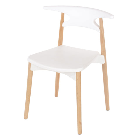 Core Products White Plastic Chair Wood Legs
