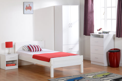 Seconique Amber Single Bed in White