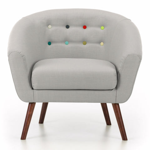 Anthea Armchair in Light Grey