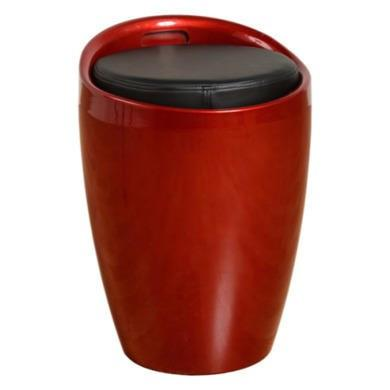 Seconique Wizard Storage Stool in Dark Red