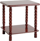 Seconique Brunton Lamp Table In Mahogany