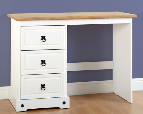 Seconique Corona White 3 Drawer Dressing Table